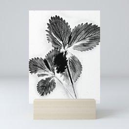 Strawberry Leaves Mini Art Print