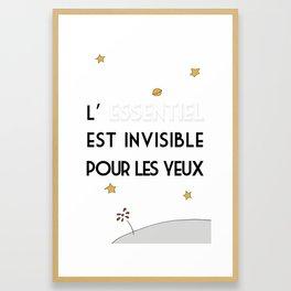 L'Essentiel Est Invisible Pour Les Yeux Framed Art Print