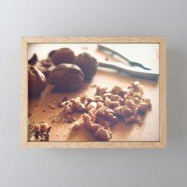 Walnuts addiction Framed Mini Art Print