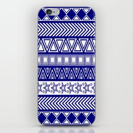 Blue Tribal Art Pattern iPhone Skin