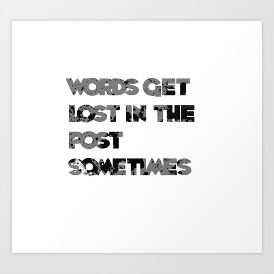 words. Art Print