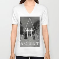 witch V-neck T-shirts featuring Witch by A C U L T