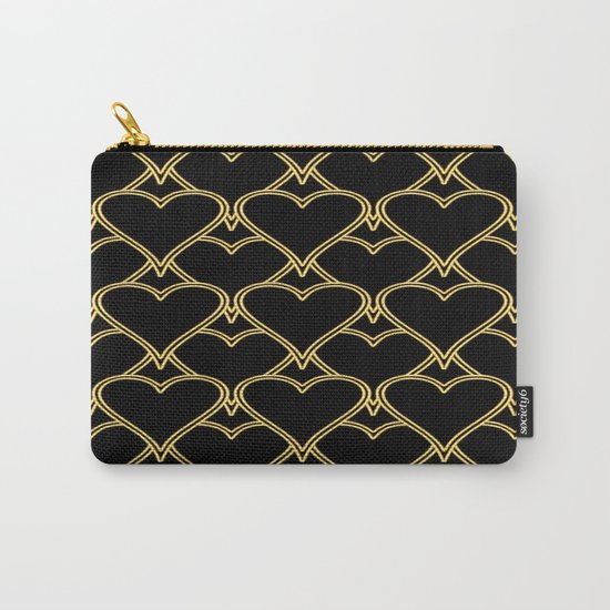 Gold Hearts Carry-All Pouch