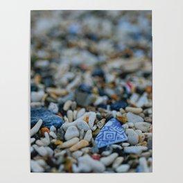 Sea Washed Blue China Poster