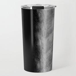 Black and White Stripes in Silk Travel Mug
