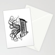Tentacles in the Tub | Octopus | Black and White Stationery Cards