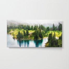 Alpine Lake, Eunice Lake, Mt. Rainier National Park Metal Print