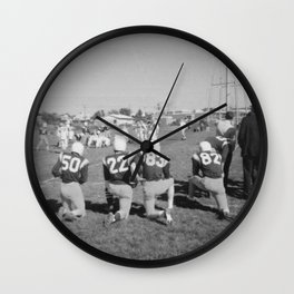 Old Lisle football stance Wall Clock