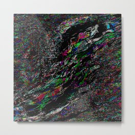 Shattered TV Metal Print