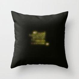 Space Enough to Contain a Universe Throw Pillow