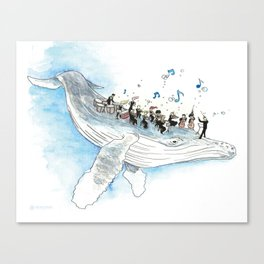 Underwater Symphony Canvas Print