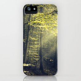 Being There - Morning Light in Forest iPhone Case