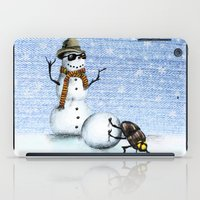 snowman iPad Cases featuring Snowman by Anna Shell