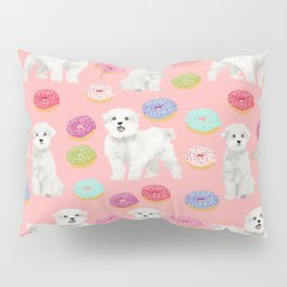 Maltese donuts dog breed funny pet lover dog person pattern print by pet friendly Pillow Sham