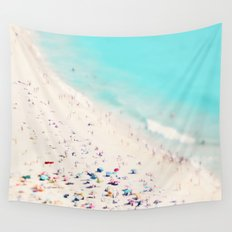 beach love III square Wall Tapestry