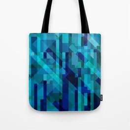 abstract composition in blues Tote Bag