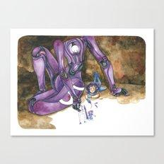 Moonbot #5: Violet Canvas Print