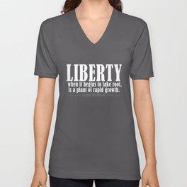 Freedom Liberty Quote George Washington Free Unisex V-Neck