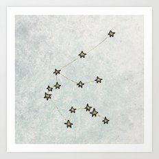 Aquarius x Zodiac x Astrology Art Print