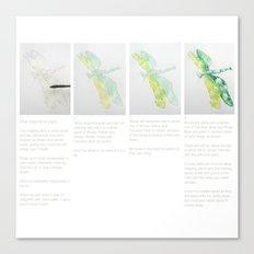 Art Demo on a Cushion - Dragonfly 1 of 3 Canvas Print