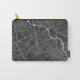 Waterloo Map, Canada - Gray Carry-All Pouch