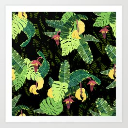 bunch of bananas Art Print