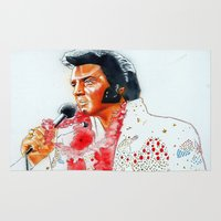 elvis presley Area & Throw Rugs featuring Elvis presley by calibos