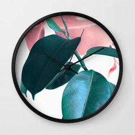 Plant Leaves Wall Clock