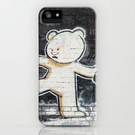 Banksy's Big Bad Bear iPhone Case