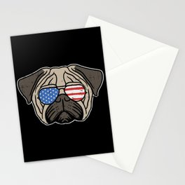 Patriotic Pug Stationery Cards