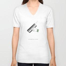 Je-te-aime-fa-sol-la-si-doux Unisex V-Neck