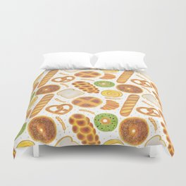 The Delicious Breads Duvet Cover