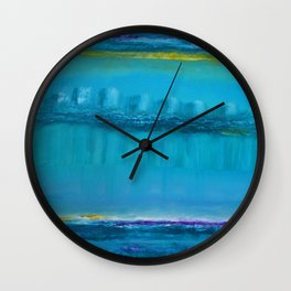 The Sky Moves Sideways In Between The City Of Dreams Wall Clock