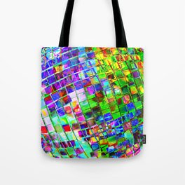 Psychedelic Planet Disco Ball Tote Bag