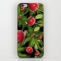 cherry iPhone & iPod Skins featuring cherry by mark ashkenazi