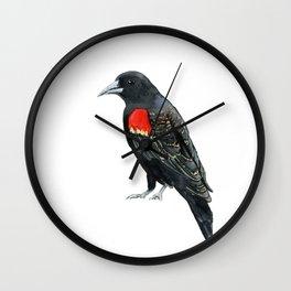 Red Winged Blackbird Wall Clock