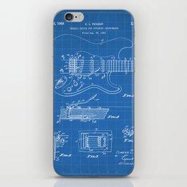 Guitar Tremelo Patent - Guitarist Art - Blueprint iPhone Skin