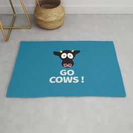 Go Cows Poster Principal's Office Version Rug