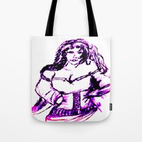 gypsy Tote Bags featuring gypsy by Art Corner