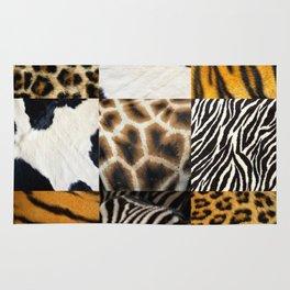 Animal Print Collage Rug