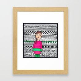 blank stare Framed Art Print