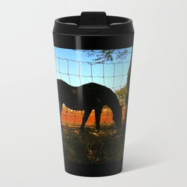 Horse by the Sea Travel Mug