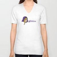 nfl V-neck T-shirts featuring Minnesota Anakins - NFL by Steven Klock