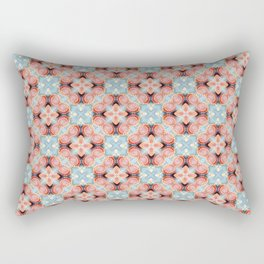 Gorgeous Pastel Pink and Blue Beadwork Inspired Fashion Pattern Rectangular Pillow