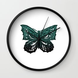 The Beauty in You - Butterfly #3 #drawing #decor #art #society6 Wall Clock