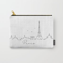 Pen line silhouette Paris Carry-All Pouch