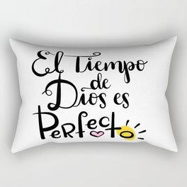 El tiempo de Dios es Perfecto Rectangular Pillow