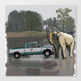 What if I had an Elephat Canvas Print