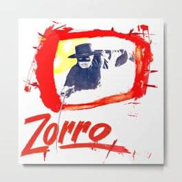 Zorro Zorro Metal Print