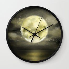 dear moon Wall Clock